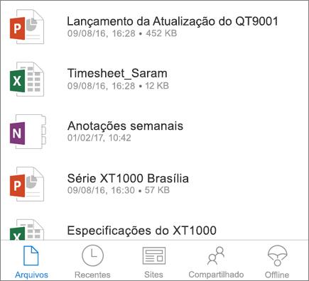 OneDrive móvel