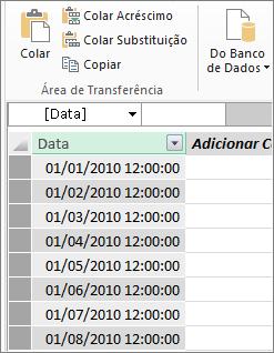 Tabela de data no Power Pivot