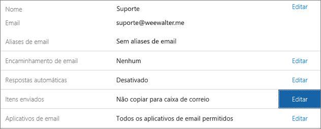 Escolha Itens Enviados > Editar.