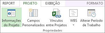 Imagem do botão Informações do Projeto