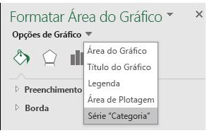 Seleção de opções da série de gráficos do Excel MAP