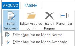 Botão Editar Arquivo