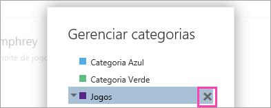 Uma captura de tela do botão Excluir