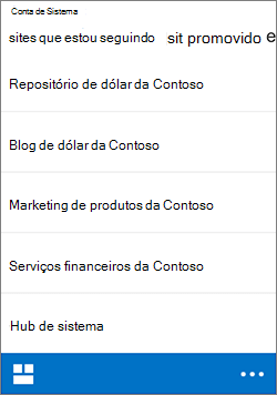 iOS seguindo sites