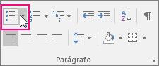 A opção Marcadores é realçada na guia Página Inicial.