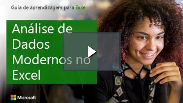 Mulher sorrindo, guia de aprendizagem do Excel