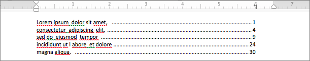 Exemplo de uso de tracejado de pontos