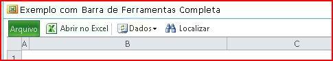 Barra de ferramentas do EWA mostrando os botões Abrir, Dados, Localizar e Ajuda