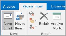 Clicar em Novo Email