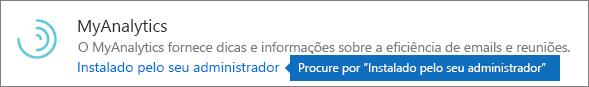 O administrador instalou um suplemento no repositório do Outlook.