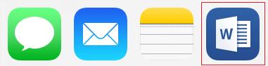 Ícones de aplicativo
