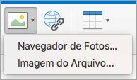 Como mostrar opções de inserção de imagem para assinatura