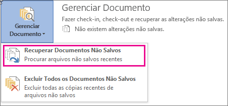 Recuperar Documentos Não Salvos no Office 2016