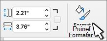 Botão painel Formatar selecionado