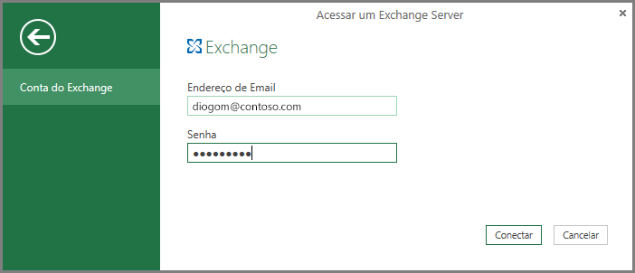 Credenciais do Exchange