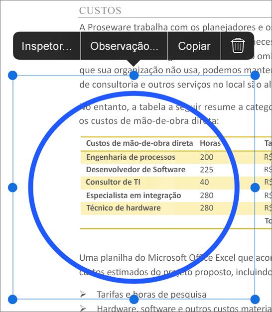 Editar marcação de PDF