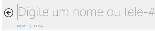 Captura de tela da caixa de texto de pesquisa do Lync