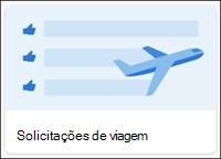 Modelo de lista de solicitações de viagem