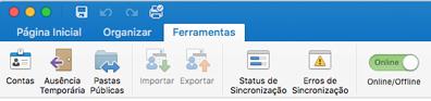 Botões da Faixa de Opções Importar/Exportar desabilitados usando a nova opção de capacidade de gerenciamento para administradores