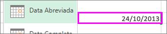 formato de data abreviada