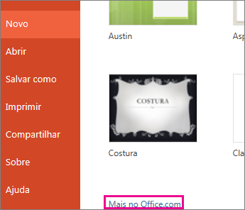 Mais no Office.com