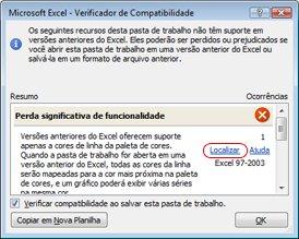 Verificador de Compatibilidade no menu Verificar Problemas