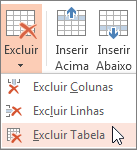 Excluir uma tabela
