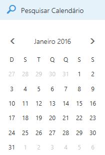 Caixa de pesquisa do calendário