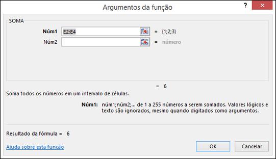 Assistente de Função do Excel