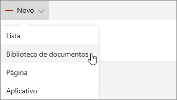 Novo menu no SharePoint Online
