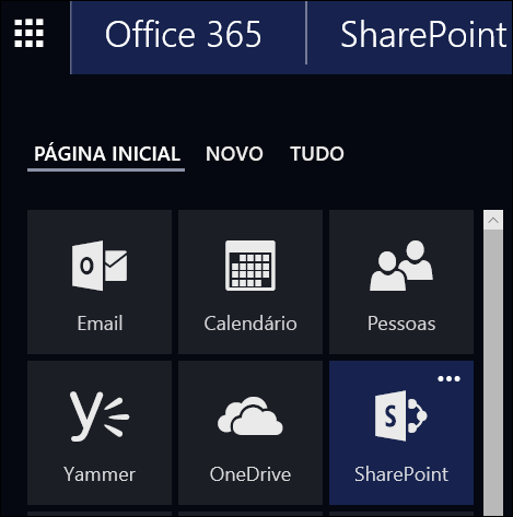 Bloco Sites no Office 365