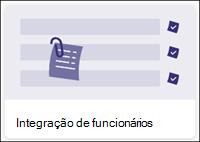 Modelo de lista de integração de funcionários