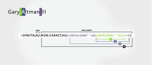 Fórmula para separar um nome e um sobrenome seguido de um sufixo