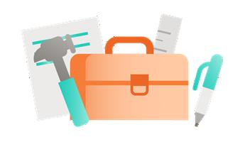 Ilustração da caixa de ferramentas