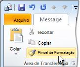 comando pincel de formatação da faixa de opções