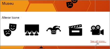 Uma seleção de ícones de teatro