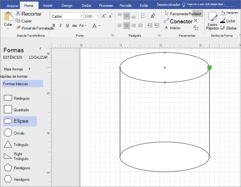 Desenhe linhas manualmente para concluir a forma.