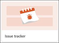 Modelo de lista do Issue Tracker