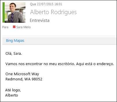 Suplemento do Bing Mapas