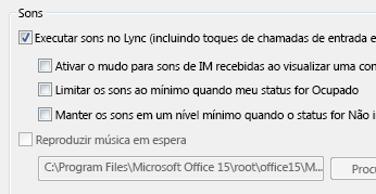 Alterar as configurações de alerta do Lync