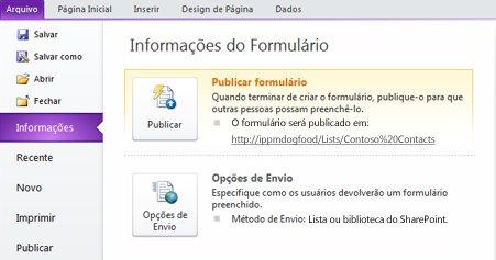 Personalizar um formulário de listas do SharePoint