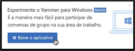 Mensagens internas do produto para Windows