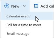 Criar uma nova reunião online