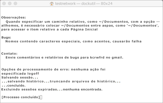 Use o comando Ctrl+clique para abrir e executar a ferramenta Dockutil.