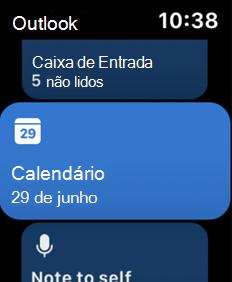 Mostra tela de relógio da Apple