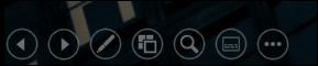 A barra de ferramentas de apresentação