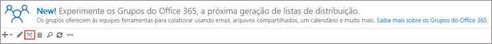 Clique ou toque a atualização para o ícone de grupos do Office 365
