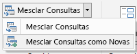 Power Query – opção Mesclar Consultas como Novas