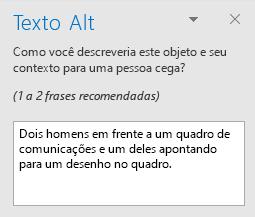 Painel de AltText