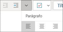 Alinhar parágrafos à esquerda no aplicativo OneNote para Windows 10
